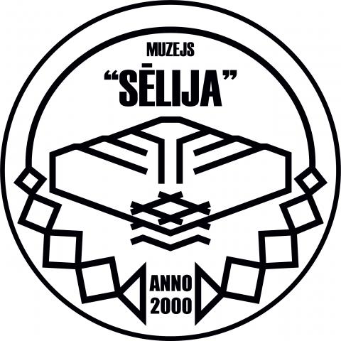 "Melnbalts muzeja ""Sēlija"" logo."
