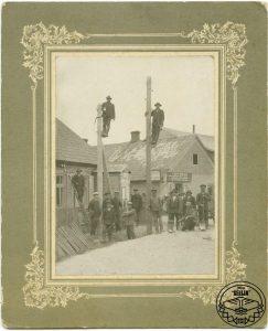 Fotogrāfija, kas ataino elektrības ievilkšanu Viesītē